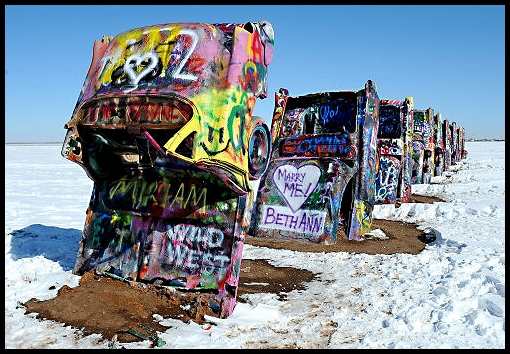 Cadillac Ranch Route 66 World
