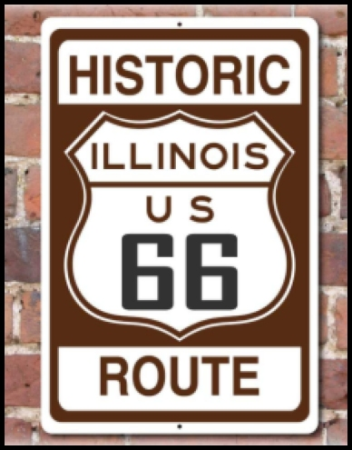 Chicago Route World - Historic us 66 map